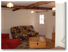 The lounge of our holiday cottage.